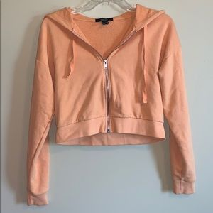 Forever 21 Cropped Zip Up - Size S